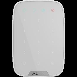 Ajax KeyPad - беспроводная сенсорная клавиатура используется для снятия и постановки на охрану системы - Белый