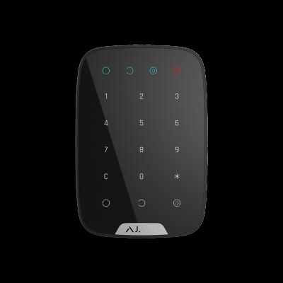 25 500₸ — Ajax KeyPad - беспроводная сенсорная клавиатура используется для снятия и постановки на охрану системы - Чёрный