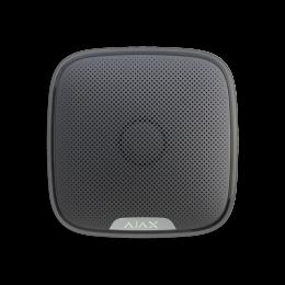 Ajax StreetSiren - уличная сирена оповещает об опасности с помощью звука и световой индикации - Чёрный