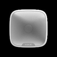 Ajax StreetSiren - уличная сирена оповещает об опасности с помощью звука и световой индикации - Белый / Чёрный