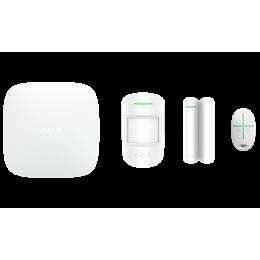 Ajax StarterKit Plus - продвинутый стартовый комплект системы безопасности - Белый / Чёрный