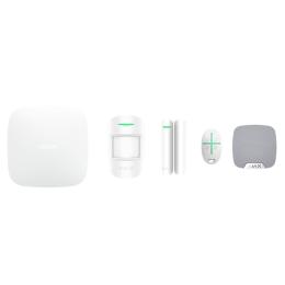 Ajax StarterKit - стартовый комплект сигнализации + HomeSiren - комнатная сирена - белый