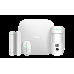 Ajax StarterKit Cam - Стартовый комплект системы безопасности с фотоверификацией тревог - Белый / Чёрный