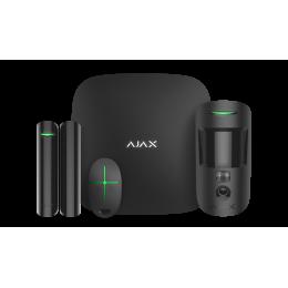 Ajax StarterKit Cam Plus - стартовый комплект системы безопасности с фотоверификацией тревог и поддержкой LTE - Белый / Чёрный