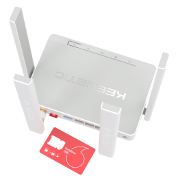 Keenetic Runner 4G - KN-2210 - Интернет-центр с модемом 4G/3G, Mesh Wi-Fi N300 и 4-портовым Smart-коммутатором