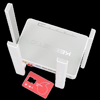 43 090₸ — Keenetic Runner 4G - KN-2210 - Интернет-центр с модемом 4G/3G, Mesh Wi-Fi N300 и 4-портовым Smart-коммутатором
