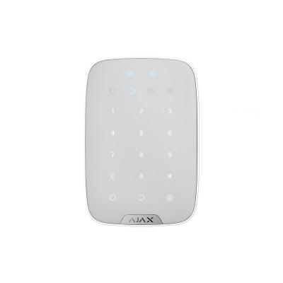 42 099₸ — Ajax KeyPad Plus - беспроводная клавиатура с поддержкой защищенных бесконтактных карт и брелоков - Белый
