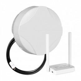 Комплект DS-4G-15M L3-2.4 - панельная секторная антенна 800/2700 МГц MIMO 15 дБ со встроенным модемом, USB кабель 10 м, Wi-Fi роутер 2.4 ГГц, LAN-3, кронштейн стеновой