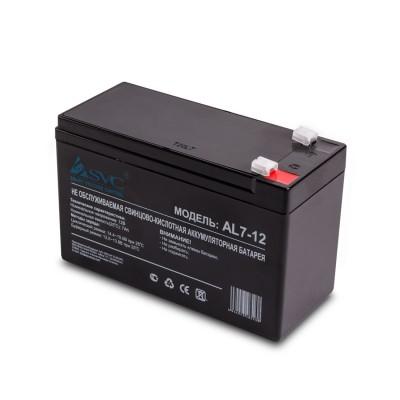 4 356₸ — Аккумуляторная батарея SVC AL7-12 (слаботочка) - 12 Вольт 7 Ампер АКБ