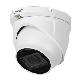 Novicam HIT 52 (ver.1399) - купольная уличная камера TVI, AHD, CVI, с микрофоном AoC - 5 Мп, 2.8 мм, 111°, ИК 30м, IP67, -45°