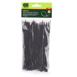 Хомуты, 150 x 2.5 мм, пластиковые, черные, 100 шт Сибртех, 45545
