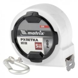Рулетка Motion, 5 м x 19 мм, возможность записи, карабин-держатель, PRO Matrix, 32594