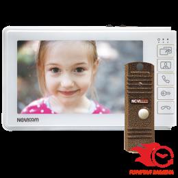 Novicam SMILE 7 HD KIT (ver.4555) - комплект домофона 7 дюймов + вызывная панель 1 mpx - 72°